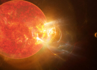 Rozbłysk Proxima Centauri / Źródło: S. Dagnello, NRAO/AUI/NSF