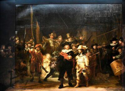 Straż Nocna Rembrandta w Rijksmuseum / Źródło: REUTERS/Piroschka van de Wouw