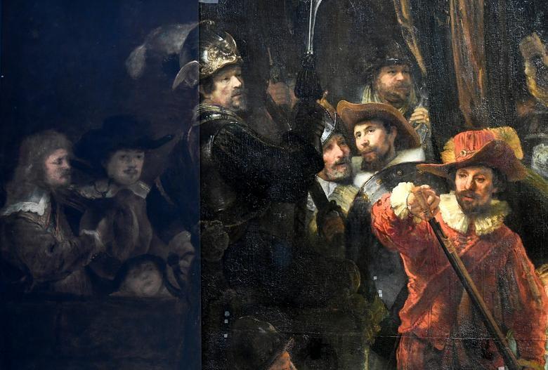 Straż Nocna Rembrandta wRijksmuseum / Źródło: REUTERS/Piroschka van de Wouw