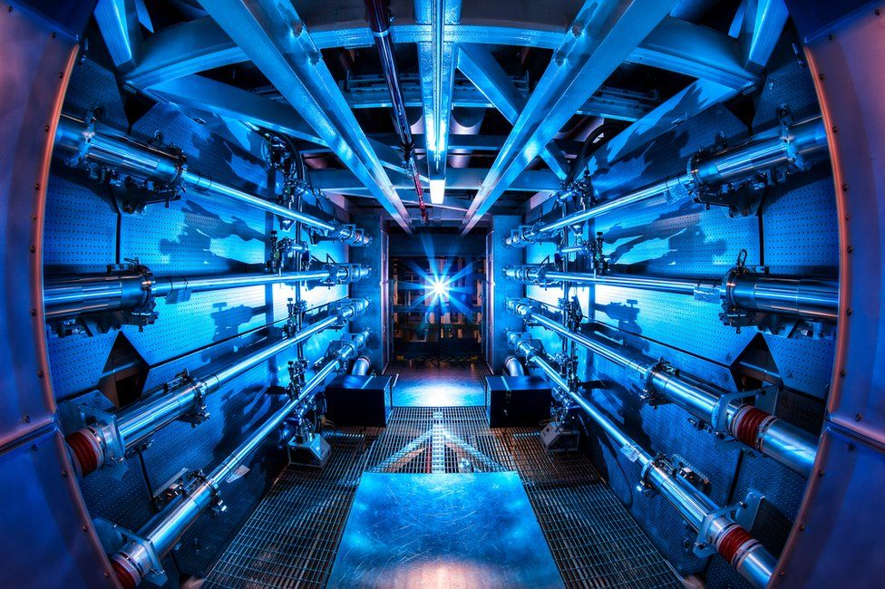 National Ignition Facility / źródło: BBC/LLNL