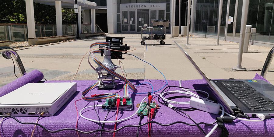 Testy wielowiązkowego układu fal milimetrowych / Źródło: Uniwersytet Kalifornijski
