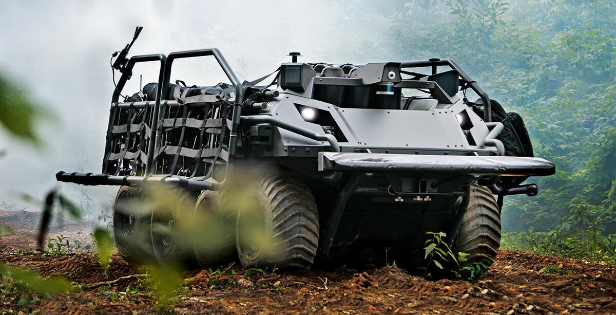Zdalnie sterowany czołg przeciwpożarowy 5G / Źródło: Rheinmetall/ZDNet