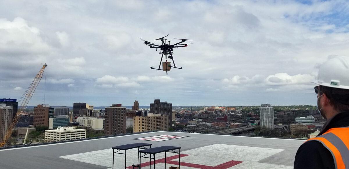 Dron nad Syracuse / Źródło: NUAIR