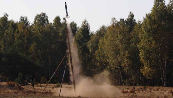 Rakieta wyposażona w napęd detonacyjny / Źródło: Łukasiewicz - Instytut Lotnictwa